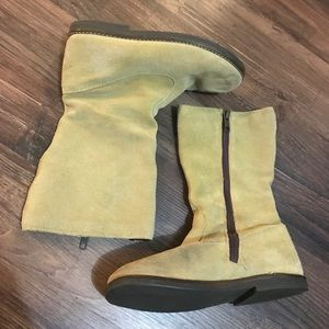 Mini Boden Full Zip Suede Boots Sz 33